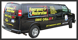 Emergency Restoration's 24 hour restoration service