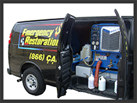 Emergency Restoration Services Van